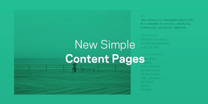 New Simple Content Page Templates